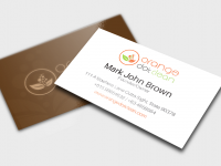 Orange Dot Clean Business Card Presentation.png