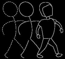Human figure line art