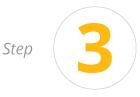 Circle with number three orange icon